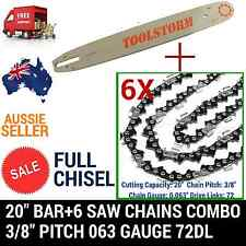 "20"" BAR+6 FULL CHISEL CHAINS FOR STIHL CHAINSAW  MS311/362/362C-M/381/391/461"