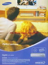 Samsung SV-DVD55 DVD & Video Combi 2003 Magazine Advert #56