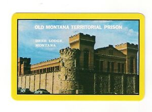 """Souvenir Playing Cards from """"Old Montana Territorial Prison"""", bridge size deck"""