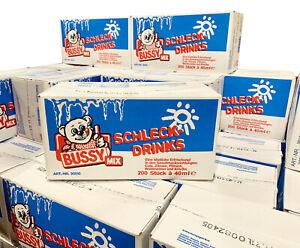 2,34/l BUSSY WASSEREIS SCHLECK DRINK MIX 200x40ml KIRSCHE WALDMEISTER ZITRONE