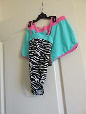 Girls  1pc Swim Bathing Suit Joe Boxer Size 5 with  matching shorts new