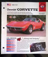 Imp 1969 Chevrolet corvette information  brochure hot cars vette stingray