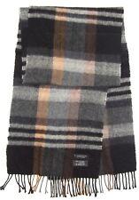 "Gentleman's COMMANDER Classic GEOMETRIC Gray Brown BLACK Cashmere Wool 64"" SCARF"