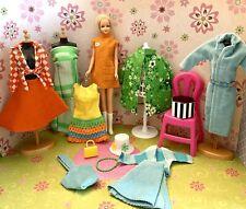 Vintage Barbie Casey Twiggy Doll & Mod Clothes Lot