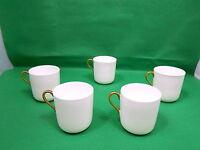 Coalport 5 x Coffee Cups White / Gold
