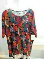 Lularoe Size M Medium  Print Knit Tunic  Irma Top Shirt NWT