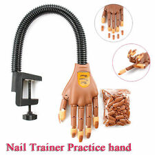 Flexible Nail Training Hand + 100 Replace Nails - Gel & Acrylic Practice Utility