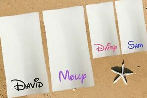 Personalised Towel Set Family Pack Home Kids Adults Towel Any Name Disney Font