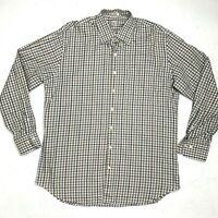 Peter Millar Button Down Shirt Men's Size L Long Sleeve Cotton Checkered Plaid