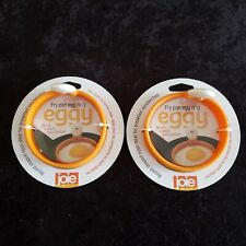 Lot of 2 Joie MSC Round Eggy Fry Pan Egg Ring New Heat Resistant Silicone