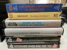 6 Vhs Railroad Video Tapes