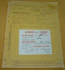 Facture Compagnie Internationale des Machines Agricoles à Tours  9 mai 1933