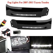 Pair LED Black Daytime running lights DRL Fog lamp for 2007-2013 Toyota Tundra