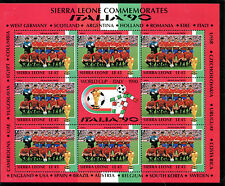 SIERRA LEONE 1990 ITALY WORLD CUP SHEETLET SPAIN TEAM MNH