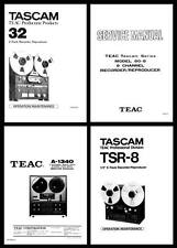 TEAC AND TASCAM OWNER AND SERVICE MANUALS ON CD-R