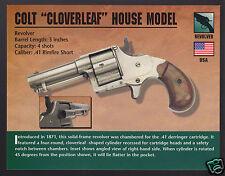 COLT CLOVERLEAF HOUSE MODEL .41 Rimfire Hand Gun Classic Firearms PHOTO CARD