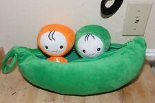 "RARE Beandolls USA 15"" Plush Peas w/ 2 Pea dolls inside"