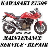 Kawasaki Z750 ZR750 Z ZR 750 Maintenance Tune-Up Service Repair Manual 2005 2006