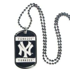 New York Yankees Dog Tag Necklace with Chain MLB Officially Licensed