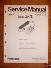 Panasonic REPARACION DE MANUAL DE SERVICIO nv-a13-e remoto para nv-100