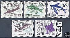 Corée-N. 1990: jeu de poisson Nr 3154-3158 timbrés! 1A