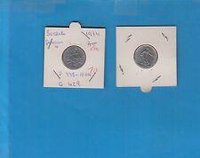 Demi-Franc Semeuse en Nickel 1974 Cette monnaie provient d' une série FDC