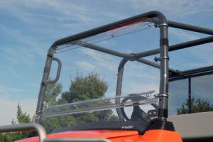 HARD WINDSHIELD for Kubota RTV 1140 - Travels Highway Speed - Polycarbonate