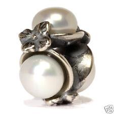 Original Trollbeads Dreifache Perle weiß 51732