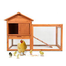Wooden Chicken Coop Rabbit Hutch Pet Cage Wood Small Animal House - 50x34.6x26