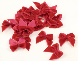 20 Small Red Velvet Ribbon Bows for Christmas Crafts | Ribbons & Bows for Crafts
