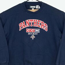 Vintage CCM Florida Panthers Sweatshirt Mens Large L Blue NHL Hockey Pullover
