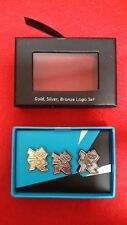 Olympics London 2012 Mini Logo Gold, Silver Bronze Presentation Pin Box Set