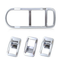 2 Chrome Interior Door Window Switch Panel Cover Trim fit 2008-2015 FREELANDER