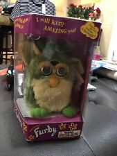Furby - Brown with BROWN Stripes with TAN  Belly & Brown Feet & White Ears