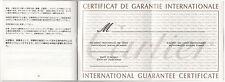 CARTIER Alarm CLOCK Guarantee Certificate BLANK Roadster Santos Pendulette Pasha
