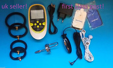 ELECTRO ESTIM TENS LCD SET WITH URETHRAL BAR,PLUG,4 PADS AND 4 RINGS ! UK SELLER