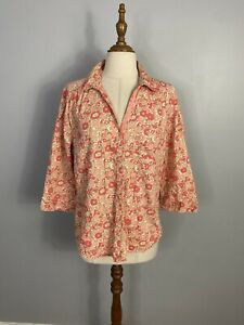 Eddie Bauer Womens Size L Button Up Collared Long Sleeves Shirt