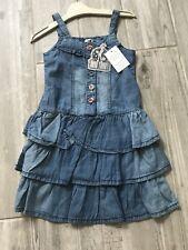 Girls Funky Diva Summer Dress, Coloured Buttons,