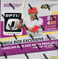 2020 PANINI OPTIC BASEBALL FACTORY SEALED MEGA BOX 8 PACKS + BONUS 1 AUTO PER