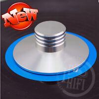 Elvon aluminum LP Vinyl Turntables Metal Disc Stabilizer Record Weight/Clamp