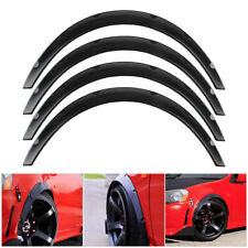 US 4pc Car SUV Tire Fender Flares Wheel Eyebrow Stripe Protector Trim Set Black