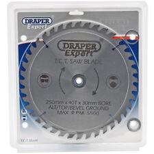 Draper Expert Circular Saw Blade 250mm Diameter 30mm Bore 40T 16 20 25 Ring 9487