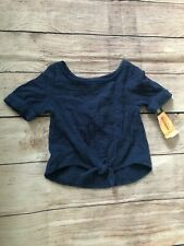 Toddler Girls Tie Up Shirt - OshKosh Navy Blue - 18M - #JCL6