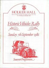 1986 HOLKER HALL HISTORIC VEHICLES RALLY