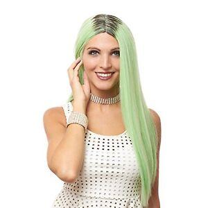 Women's Mint Green Super Long Straight Hair Kylie Costume Wig