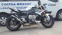 NEW BMW S1000R 2017 Black Stainless MTC PROJECT  Motorbike Exhaust Can