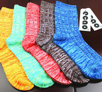 New Casual Cotton Design Multi-Color  Dress knitted wool Mens Women's Socks oi;o