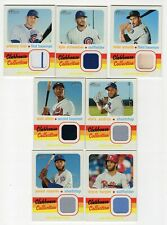 Lot of 2020 Topps Heritage Clubhouse Collection Relic Cards