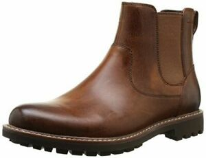 Mens Chelsea Casual Brown Leather Dressy Jumper Ankle Boots