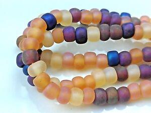"""Czech Glass Seed Beads Size 6/0 """" MIXTURE AUTUMN IRIS MATTE """" Strands"""
